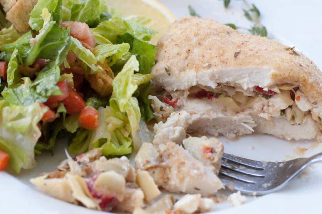 Artichoke and Feta Stuffed Chicken Breast