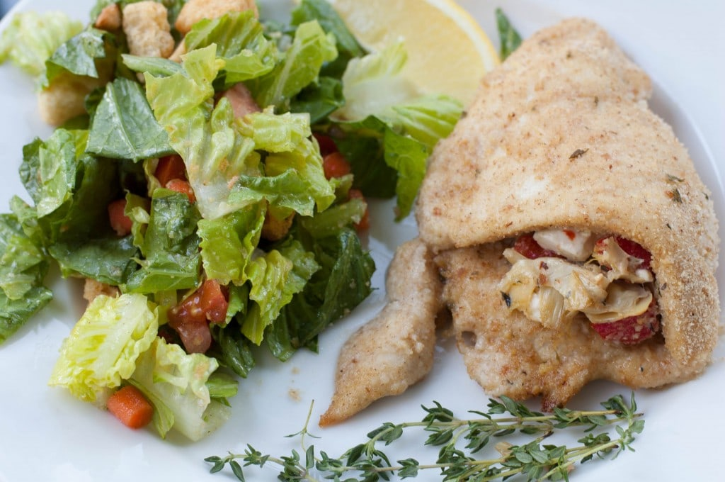 Artichoke and Feta Stuffed Chicken Breasts