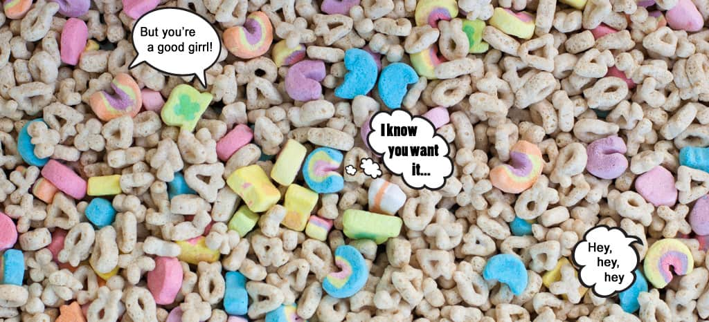 Lucky Charms singing Blurred Lines