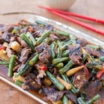 Tangerine Beef Stir Fry with Green Beans and Sweet Red Peppers
