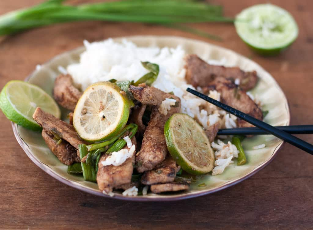 Pork Stir-Fry With Honey, Lime and Ginger - thekitchensnob.com