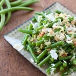 Fresh Green Beans With Caramelized Onions and Bacon