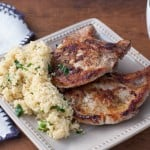 Easy Pork Chops - perfect for a quick weenight meal - thekitchensnob.com