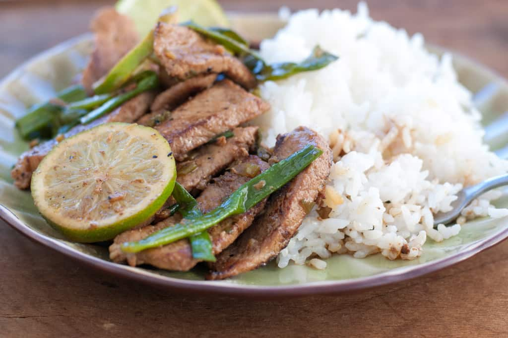 Pork Stir Fry With Honey, Lime, and Ginger - thekitchensnob.com