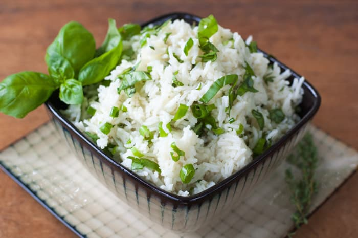 Herbed Basmati Rice recipe - thekitchensnob.com