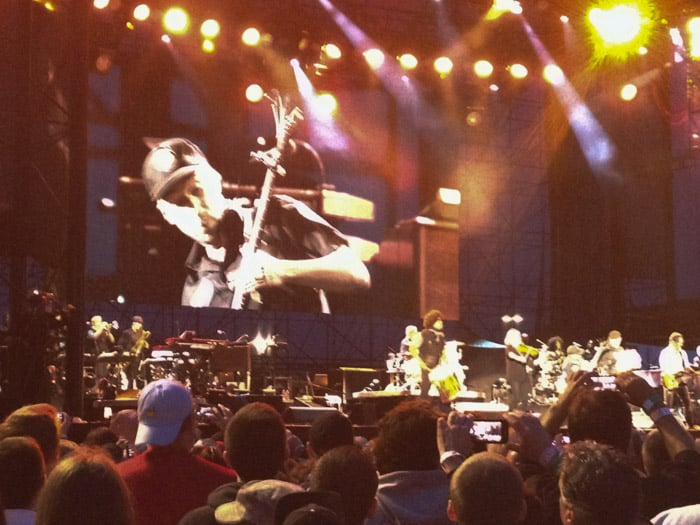 Tom Morello at the Bruce Springsteen concert