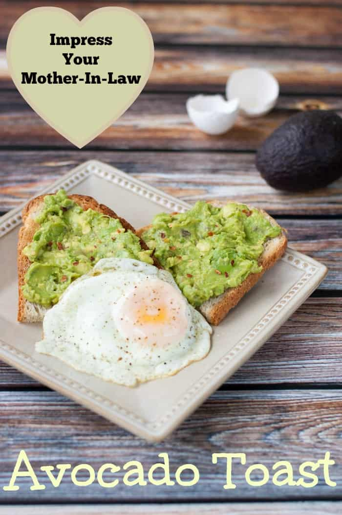 Impress Your Mother-In-Law Avocado Toast - made with a hint of garlic - a yummy healthy breakfast! thekithensnob.com #breakfast #avocado #healthy