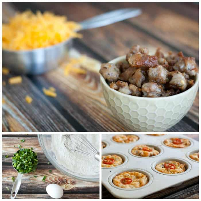 Breakfast Muffins with Sausage, Cheddar & Green Onions - The Kitchen Snob