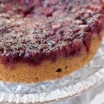 Cranberry Upside Down Cake bursting with some kicked up flavor! #holiday #desserts #recipes