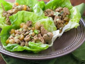 Asian Chicken Lettuce Wraps - a super healthy recipe that's easy to make!
