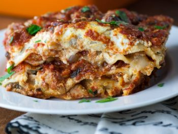 No Boil Lasagna with Turkey Sausage - this recipe is so flavorful with goat cheese as the secret ingredient!