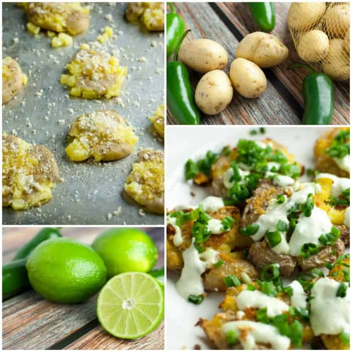 Smashed Potatoes with Jalapeno Lime Aioli - this recipe has a lot of flavor!