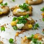 Smashed Potatoes with Jalapeno Lime Aioli - this recipe has so much flavor!