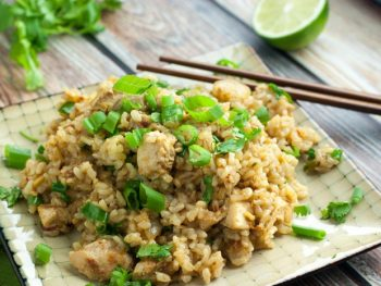Spicy Chicken Fried Rice - better than takeout! No wok needed - also sugar free and a great recipe for the Fed Up Challenge