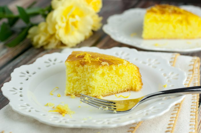 Mom's Luscious Lemon Cake - this is her most requested recipe! Super moist and the glaze is to die for!