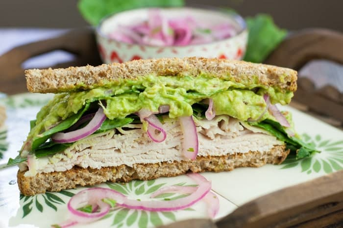 The Spicy Power Turkey Sandwich with Avocado Spread - perfect recipe to eat while taking the Fed Up Challenge. No sugar or white carbs.