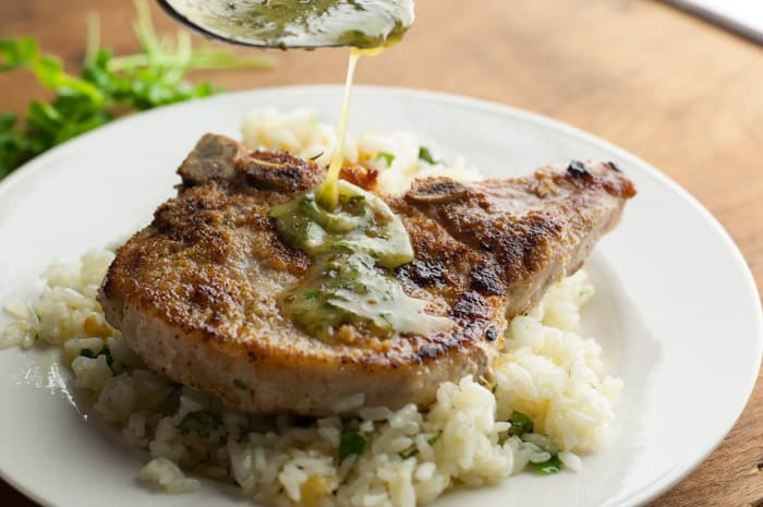 Pork Chops with Honey Lime Cilantro Sauce - out of this world recipe!