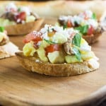 Breakfast Bruschetta is perfect for a brunch or a large gathering where people can add their own toppings