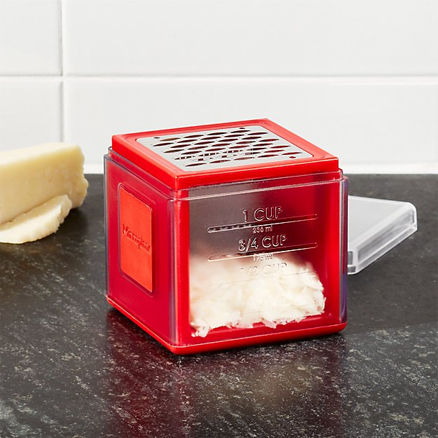 red box cheese grater that measures as you grate
